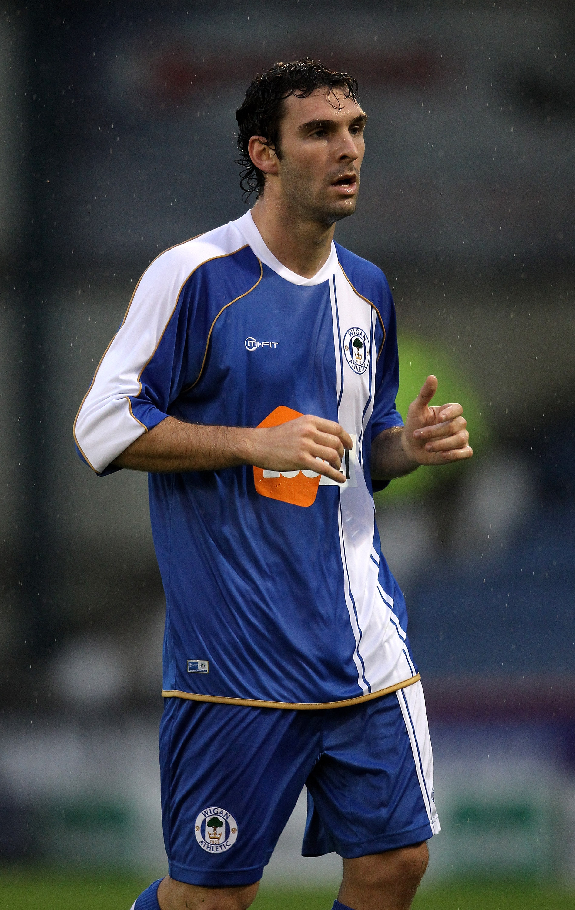 OLDHAM, ENGLAND - JULY 20:  Mauro Boselli of Wigan looks on during the pre season friendly match between Oldham Athletic and Wigan Athletic at Boundary Park on July 20, 2010 in Oldham, England.  (Photo by David Rogers/Getty Images)