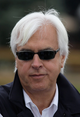 BALTIMORE, MD - MAY 19:  Bob Baffert, trainer of Preakness entrant Midnight Interlude, talks with the media outside the stakes barn at Pimlico Race Course on May 19, 2011 in Baltimore, Maryland. The 136th running of the Preakness Stakes will be run on Sat