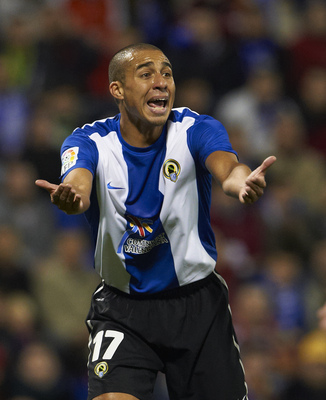 ALICANTE, SPAIN - JANUARY 29:  David Trezeguet of Hercules gestures during the La Liga match between Hercules and Barcelona at Estadio Jose Rico Perez on January 29, 2011 in Alicante, Spain.  Barcelona won 0-3.  (Photo by Manuel Queimadelos Alonso/Getty I