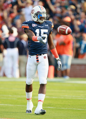 AUBURN, AL - SEPTEMBER 18:  Neiko Thorpe #15 of the Auburn Tigers against the Clemson Tigers at Jordan-Hare Stadium on September 18, 2010 in Auburn, Alabama.  (Photo by Kevin C. Cox/Getty Images)