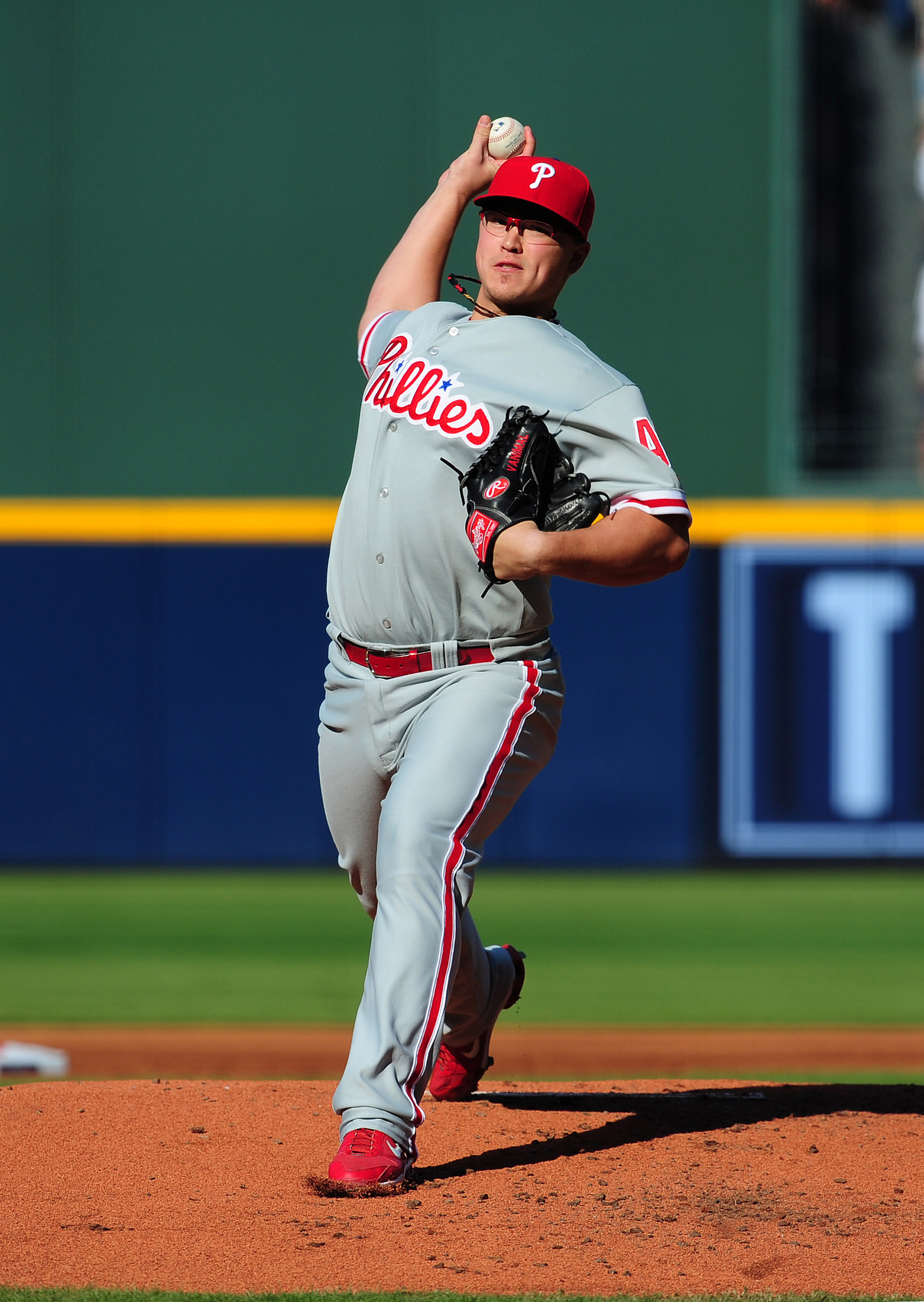 ATLANTA - OCTOBER 2: Vance Worley #49 of the Philadelphia Phillies pitches against the Atlanta Braves at Turner Field on October 2, 2010 in Atlanta, Georgia. (Photo by Scott Cunningham/Getty Images)