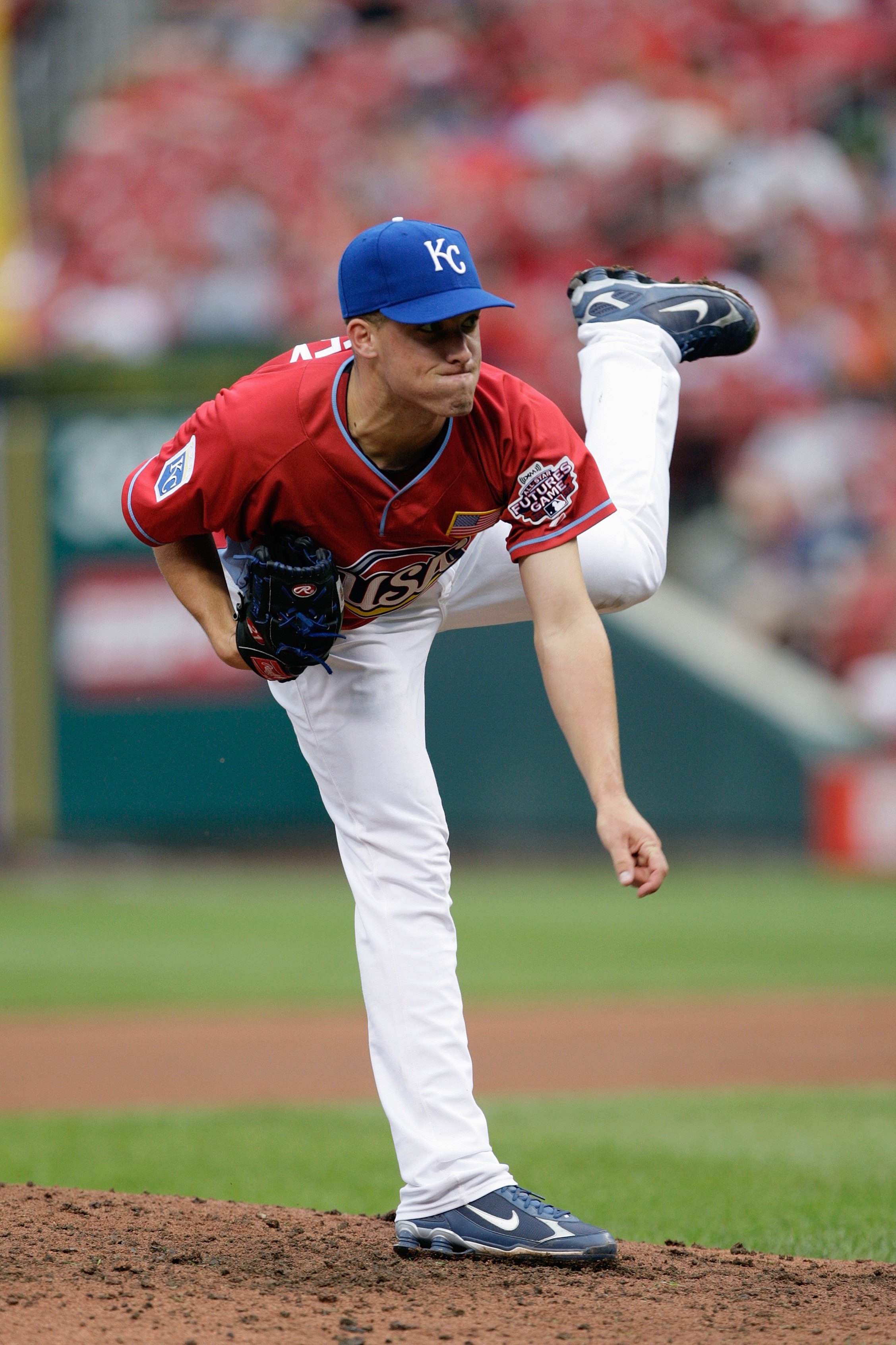 ST. LOUIS, MO - JULY 12: U.S. Futures All-Star Danny Duffy of the Kansas City Royals pitches during the 2009 XM All-Star Futures Game at Busch Stadium on July 12, 2009 in St. Louis, Missouri. (Photo by Jamie Squire/Getty Images)