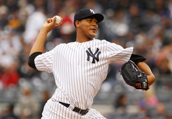 NEW YORK - MAY 22:  Ivan Nova #47 of the New York Yankees delivers a pitch in the first inning against the New York Mets on May 22, 2011 at Yankee Stadium in the Bronx borough of New York City.  (Photo by Mike Stobe/Getty Images)