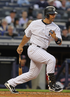 NEW YORK, NY - MAY 13:  Jorge Posada #20 of the New York Yankees in action against the Boston Red Sox during their game on May 13, 2011 at Yankee Stadium in the Bronx borough of New York City.  (Photo by Al Bello/Getty Images)