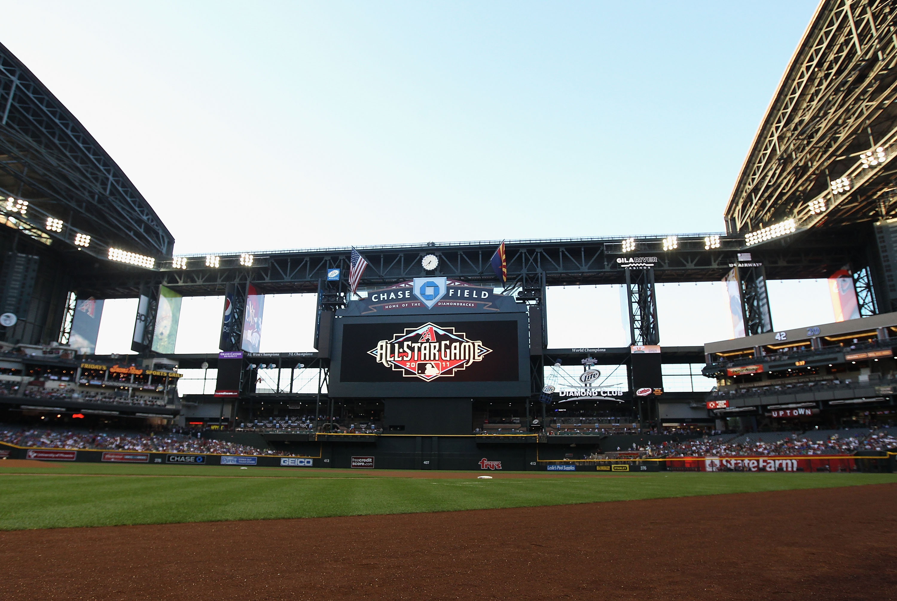 Chase Field in Arizona, the host of the 2011 MLB All-Star Game