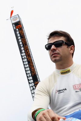 INDIANAPOLIS, IN - MAY 21:  Oriol Servia, driver of the #2 Telemundo Newman/Haas Racing Dallara Honda, waits for his turn during qualifying for the Indianapolis 500 on May 21, 2011 at Indianapolis Motor Speedway in Indianapolis, Indiana.  (Photo by Jamie