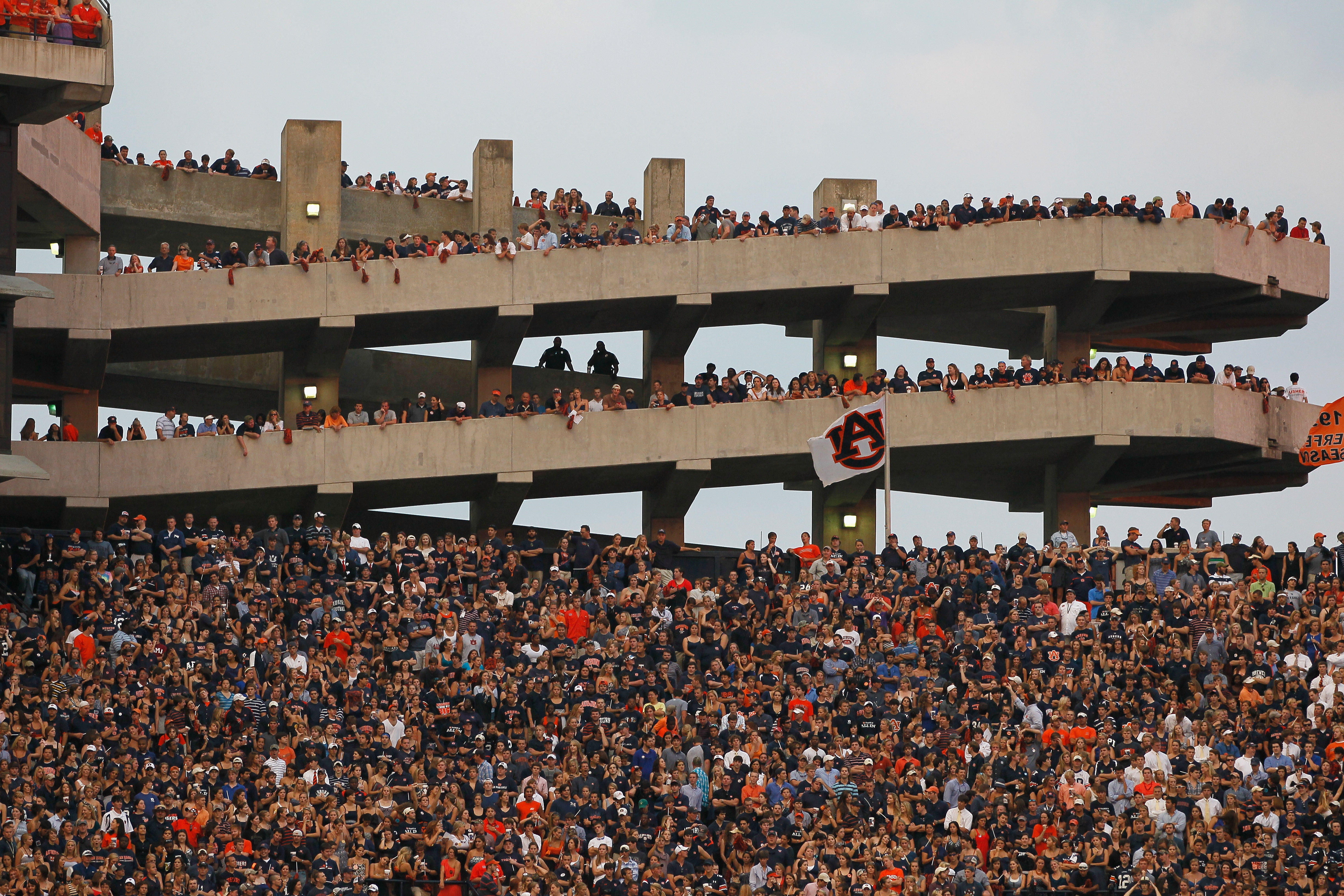 Auburn fans fill Jordan-Hare Stadium every fall saturday ready to cheer the Tigers to victory.