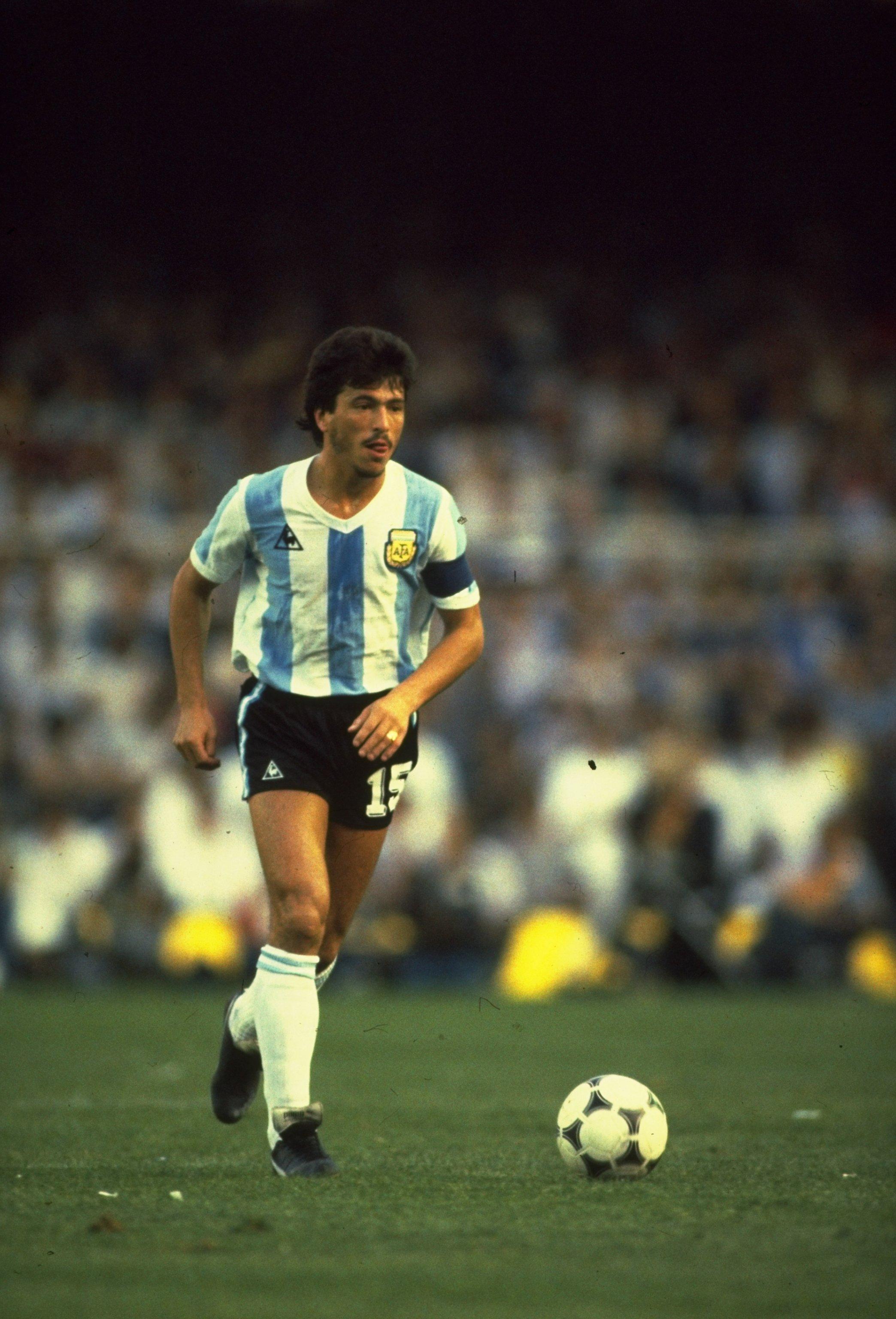 Undated:  Argentina Captain Daniel Passarella in action during a match. \ Mandatory Credit: Steve  Powell/Allsport