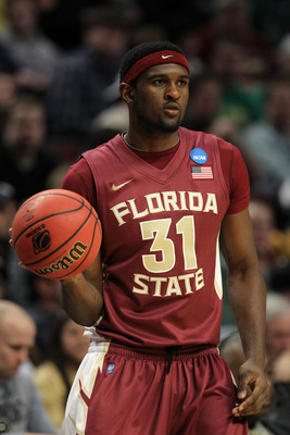 CHICAGO, IL - MARCH 20:  Chris Singleton #31 of the Florida State Seminoles looks on while playing the Notre Dame Fighting Irish in the first half during the third round of the 2011 NCAA men's basketball tournament at the United Center on March 20, 2011 i
