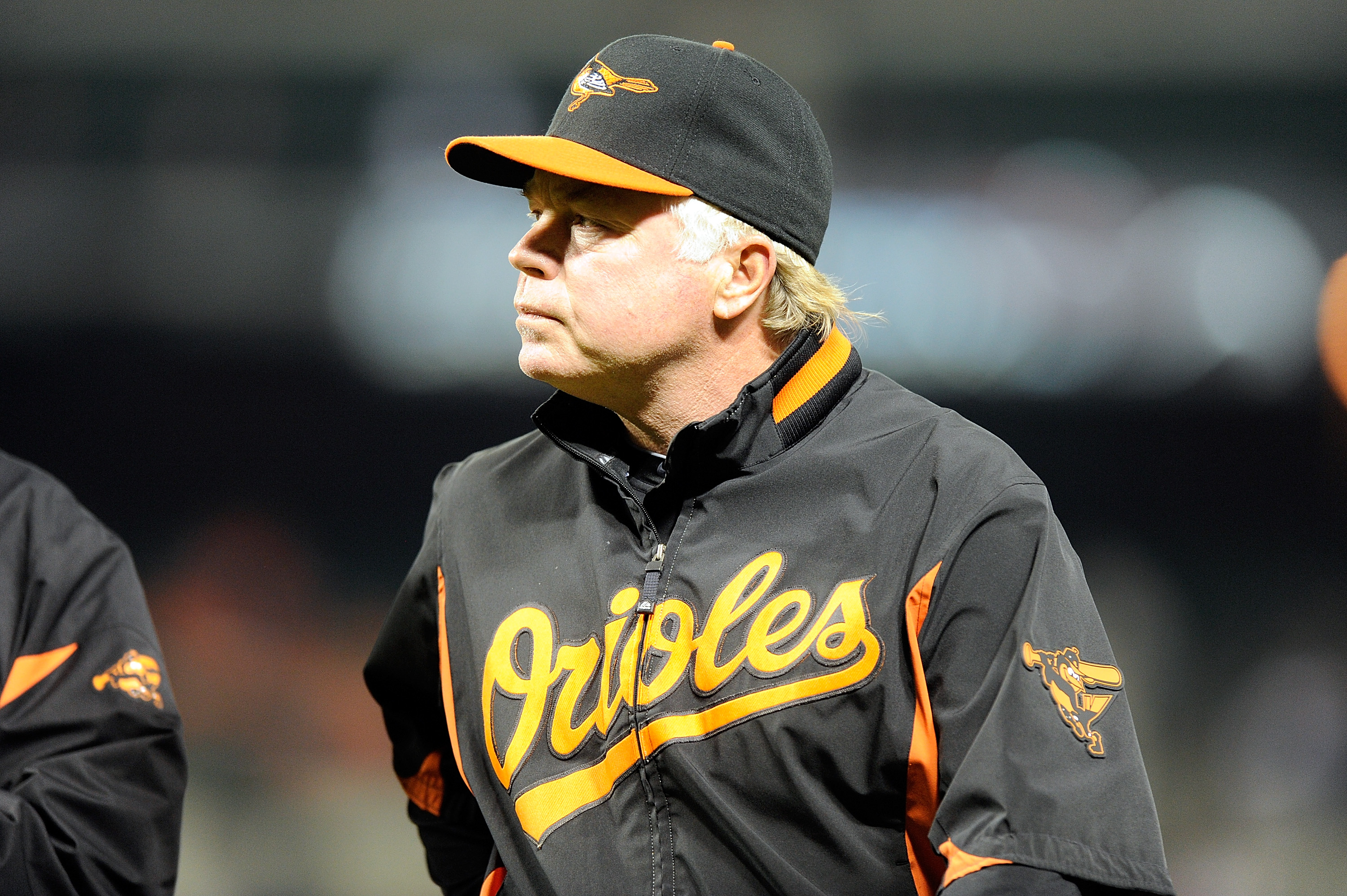 BALTIMORE, MD - APRIL 18:  Manager Buck Showalter of the Baltimore Orioles walks to the dugout during the game against the Minnesota Twins at Oriole Park at Camden Yards on April 18, 2011 in Baltimore, Maryland.  (Photo by Greg Fiume/Getty Images)