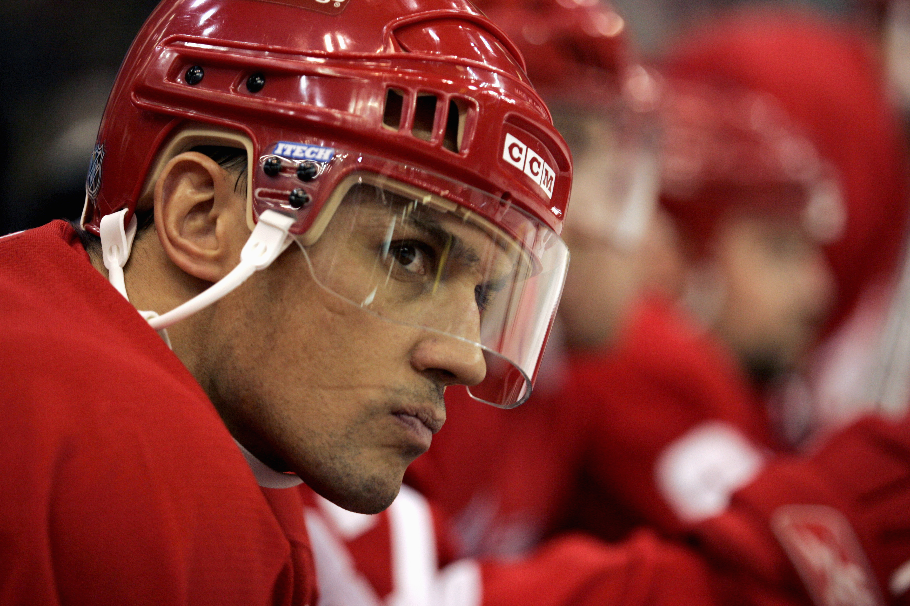 DETROIT - DECEMBER 1:  Steve Yzerman #19 of the Detroit Red Wings looks on from the bench against the Calgary Flames on December 1, 2005 at Joe Louis Arena in Detroit, Michigan.  Calgary won 3-2.  (Photo by Gregory Shamus/Getty Images)