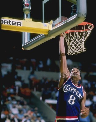 Marques Johnson of the Los Angeles Clippers goes up for two.