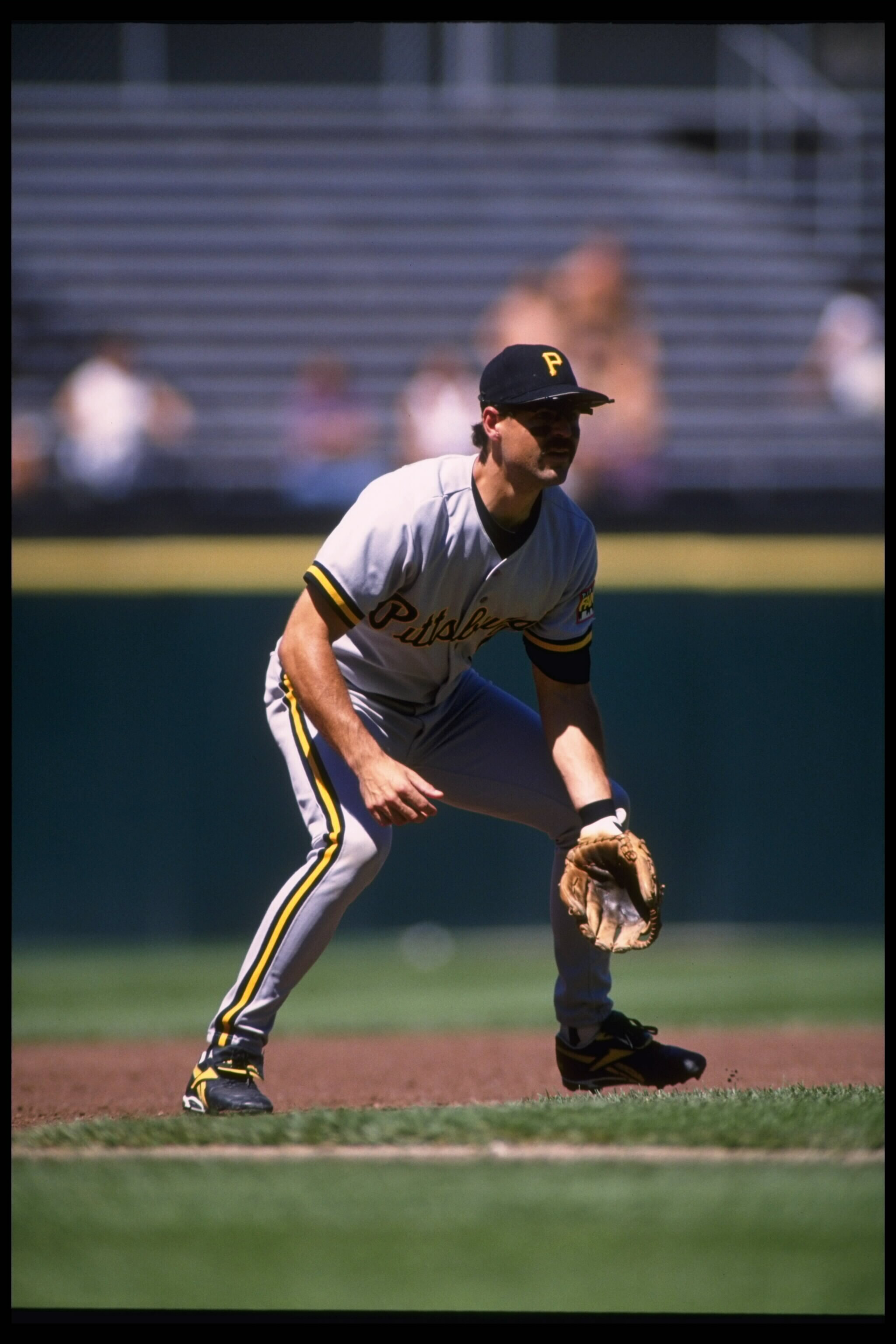 8 Aug 1995:  Third baseman Jeff King of the Pittsburgh Pirates stands in the infield ready for any hit by the San Francisco Giants at Candlestick Park in San Francisco, California.  The Pirates defeated the Giants 9-5.  Mandatory Credit:  Otto Greule/Alls