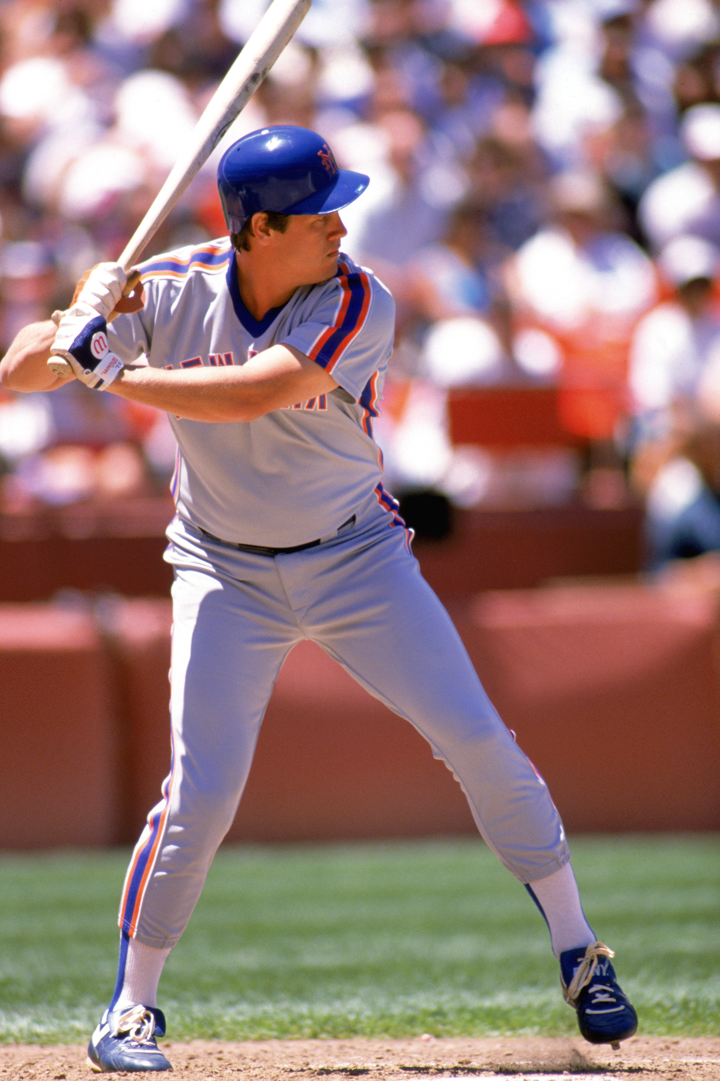 1989:  Kevin McReynolds of the New York Mets stands ready at bat during a game in the 1989 season. (Photo by: Otto Greule Jr/Getty Images)