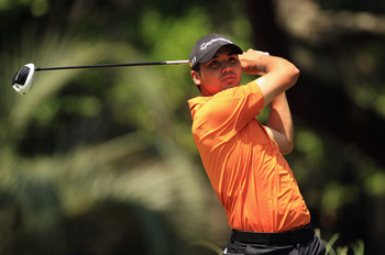 HILTON HEAD ISLAND, SC - APRIL 23:  Jason Day of Australia watches his tee shot on the 2nd hole during the third round of The Heritage at Harbour Town Golf Links on April 23, 2011 in Hilton Head Island, South Carolina.  (Photo by Streeter Lecka/Getty Imag