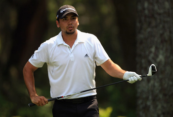 HILTON HEAD ISLAND, SC - APRIL 21:  Jason Day of Australia lines up his tee shot on the 8th hole during the first round of The Heritage at Harbour Town Golf Links on April 21, 2011 in Hilton Head Island, South Carolina.  (Photo by Streeter Lecka/Getty Ima