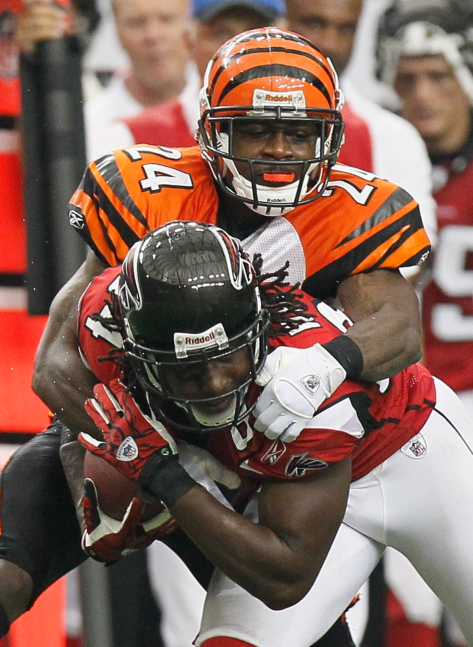 Cornerback Adam Jones' first season with the Bengals was limited due to injury.