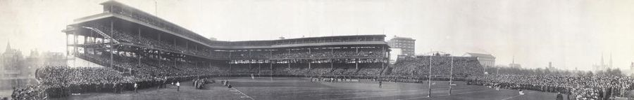 Forbes Field, built for baseball, was the home of the Steelers from 1933-1963