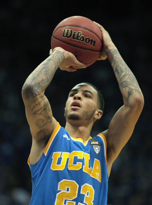 LAWRENCE, KS - DECEMBER 02:  Tyler Honeycutt #23 of the UCLA Bruins in action during the game against the Kansas Jayhawks on December 2, 2010 at Allen Fieldhouse in Lawrence, Kansas.  (Photo by Jamie Squire/Getty Images)