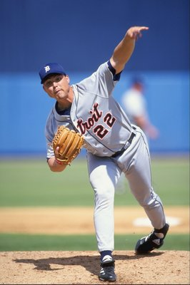 7 Mar 1999:  Pitcher Justin Thompson #22 of the Detroit Tigers pitching during the Spring Training game against the Cleveland Indians at the Chain of Lakes Park in Winter Haven, Florida. The Indians defeated the Tigers 5-4. Mandatory Credit: Vincent Lafor