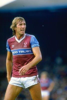 1985:  Portrait of Billy Bonds of West Ham United during a match. \ Mandatory Credit: David  Cannon/Allsport