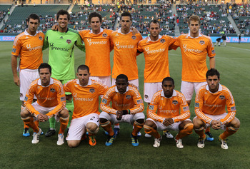 CARSON, CA - MAY 25:   The Houston Dynamo starting eleven pose for a photo before the game with the Los Angeles Galaxy at The Home Depot Center on May 25, 2011 in Carson, California.   (Photo by Stephen Dunn/Getty Images)