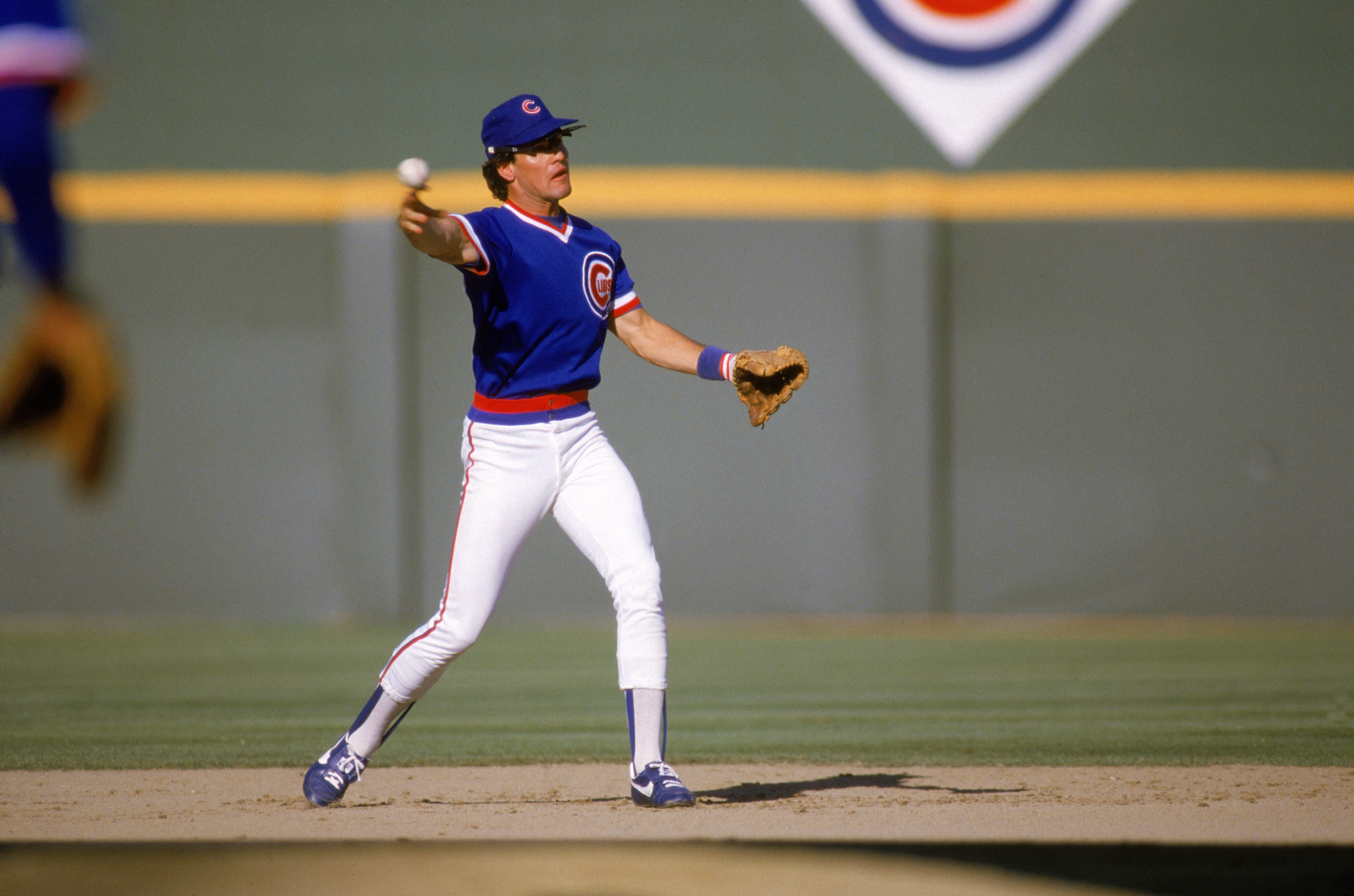 SAN DIEGO -1986: Ryne Sandberg #23 of the Chicago Cubs throws the ball during a game against the San Diego Padres in 1986 at Jack Murphy Stadium in San Diego, California.  (Photo by Stephen Dunn/Getty Images)