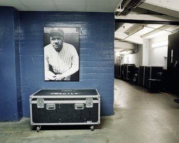 NEW YORK - SEPTEMBER 11: A general view of a picture of Babe Ruth in the hallway at Yankee Stadium on September 11, 2008 in the Bronx borough of New York City. The 85 year old ball park will be closed after the 2008 season as the New York Yankees move to