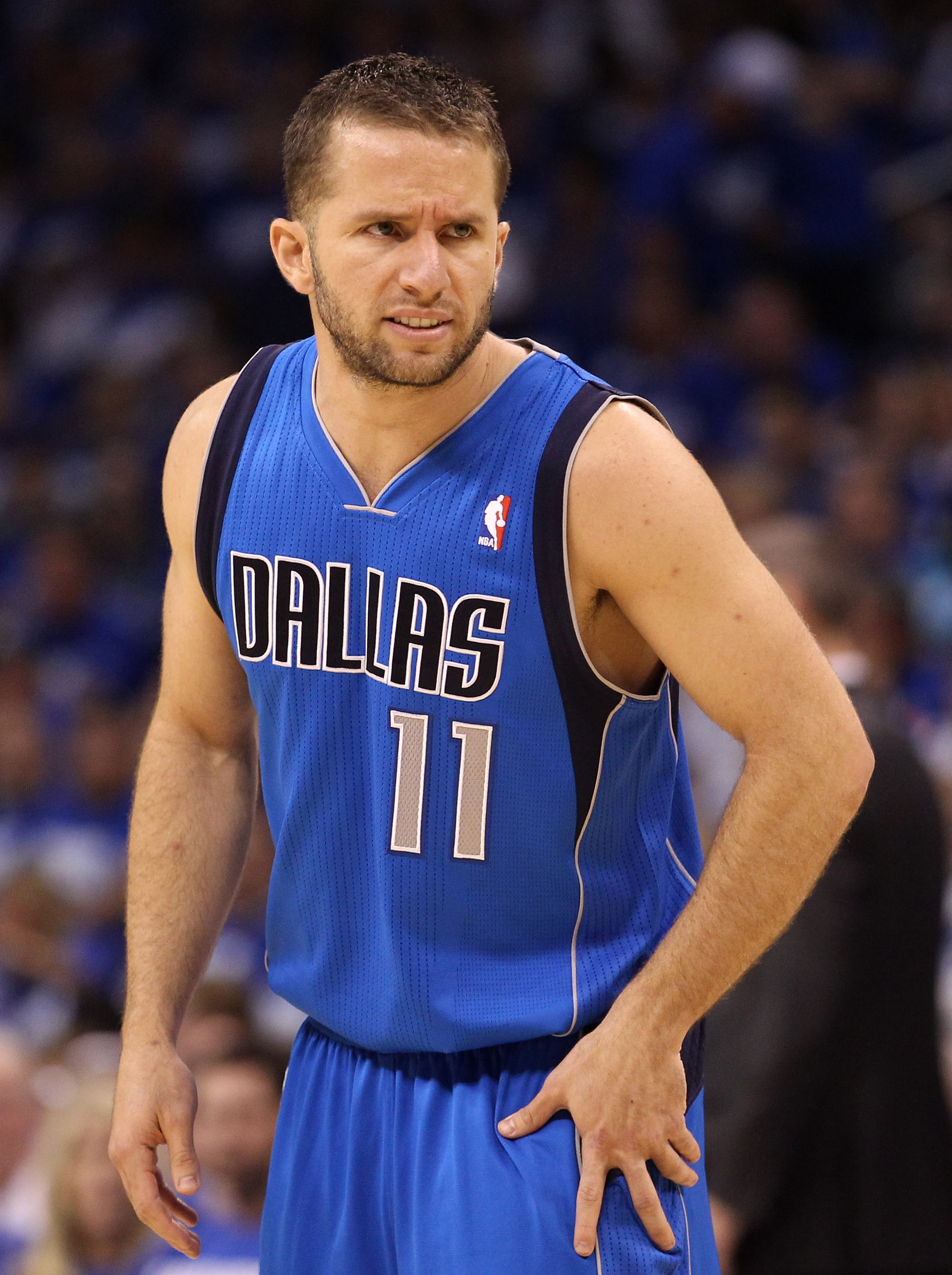 OKLAHOMA CITY, OK - MAY 21:  Jose Juan Barea #11 of the Dallas Mavericks looks on while taking on the Oklahoma City Thunder in Game Three of the Western Conference Finals during the 2011 NBA Playoffs at Oklahoma City Arena on May 21, 2011 in Oklahoma City