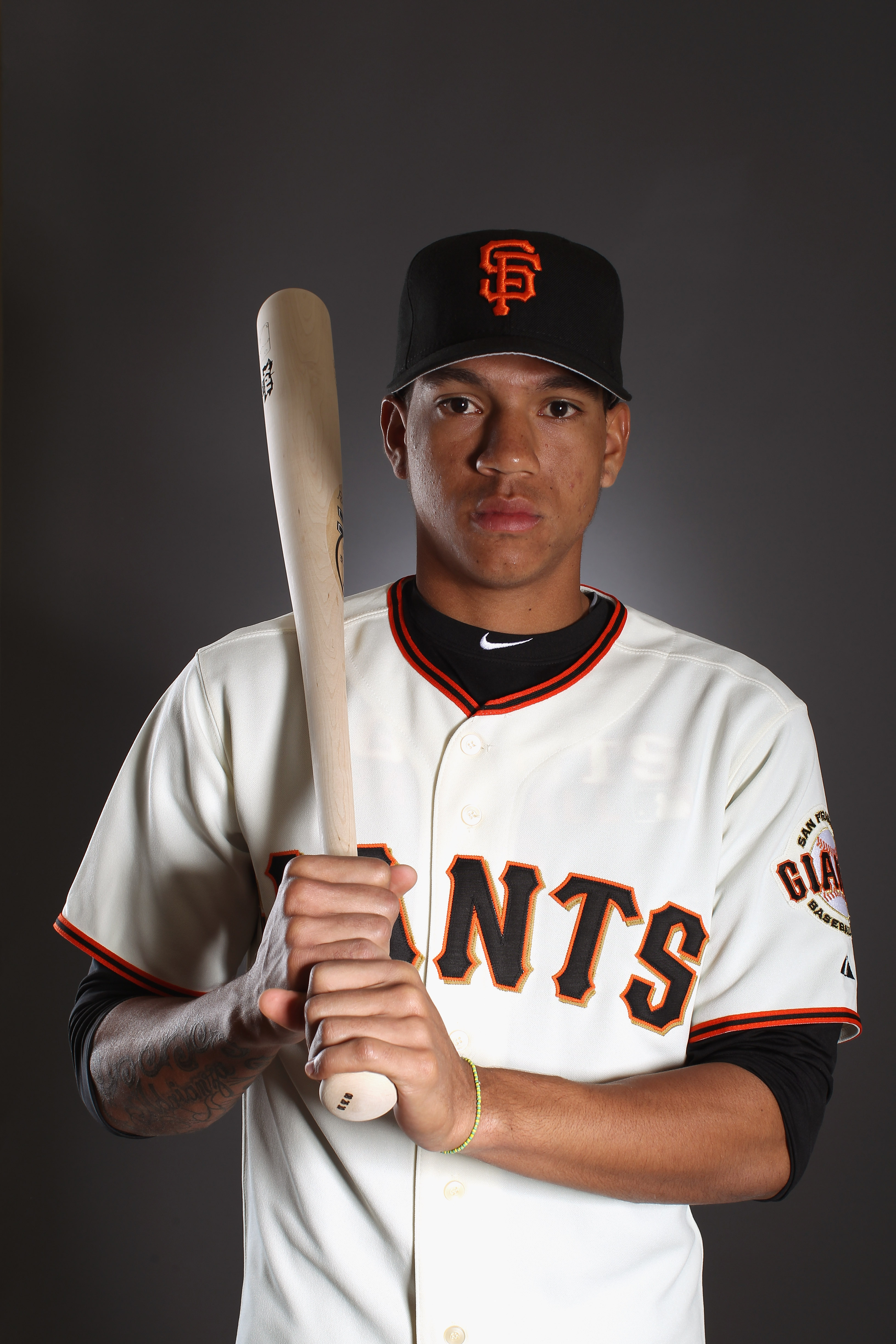 SCOTTSDALE, AZ - FEBRUARY 23:  Ehire Adrianza #78 of the San Francisco Giants poses for a portrait during media photo day at Scottsdale Stadium on February 23, 2011 in Scottsdale, Arizona.  (Photo by Ezra Shaw/Getty Images)
