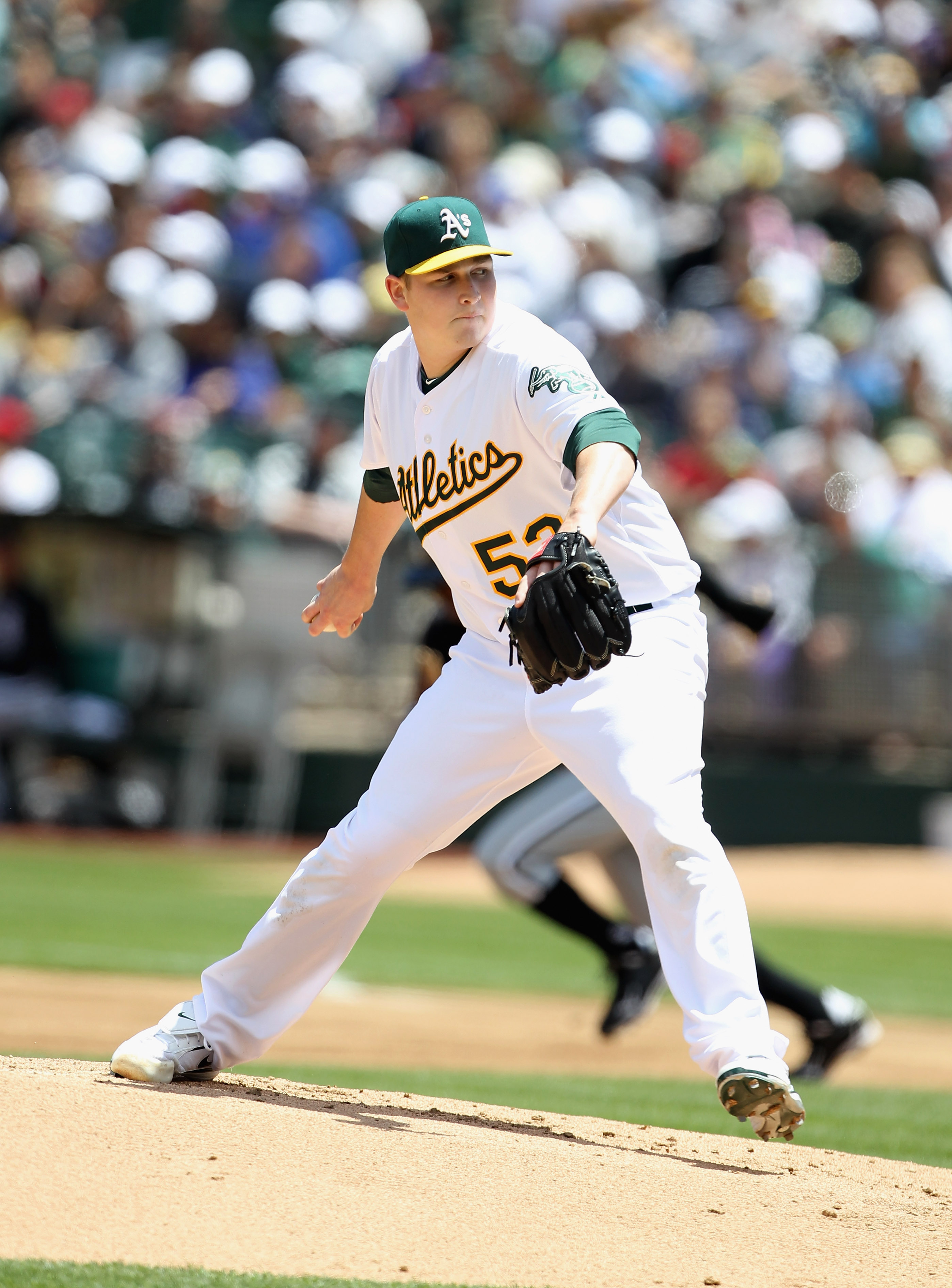 OAKLAND, CA - MAY 15:  Trevor Cahill #53 of the Oakland Athletics in action against the Chicago White Sox at Oakland-Alameda County Coliseum on May 15, 2011 in Oakland, California.  (Photo by Ezra Shaw/Getty Images)