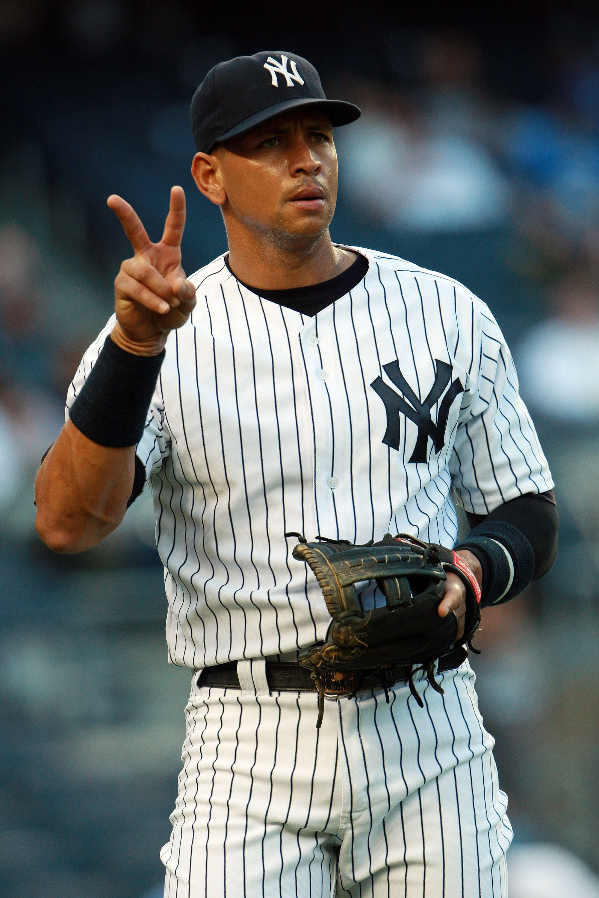NEW YORK, NY - MAY 24:  Alex Rodriguez #13 of the New York Yankees gestures before playing against the Toronto Blue Jays at Yankee Stadium on May 24, 2011 in the Bronx borough of New York City.  (Photo by Michael Heiman/Getty Images)