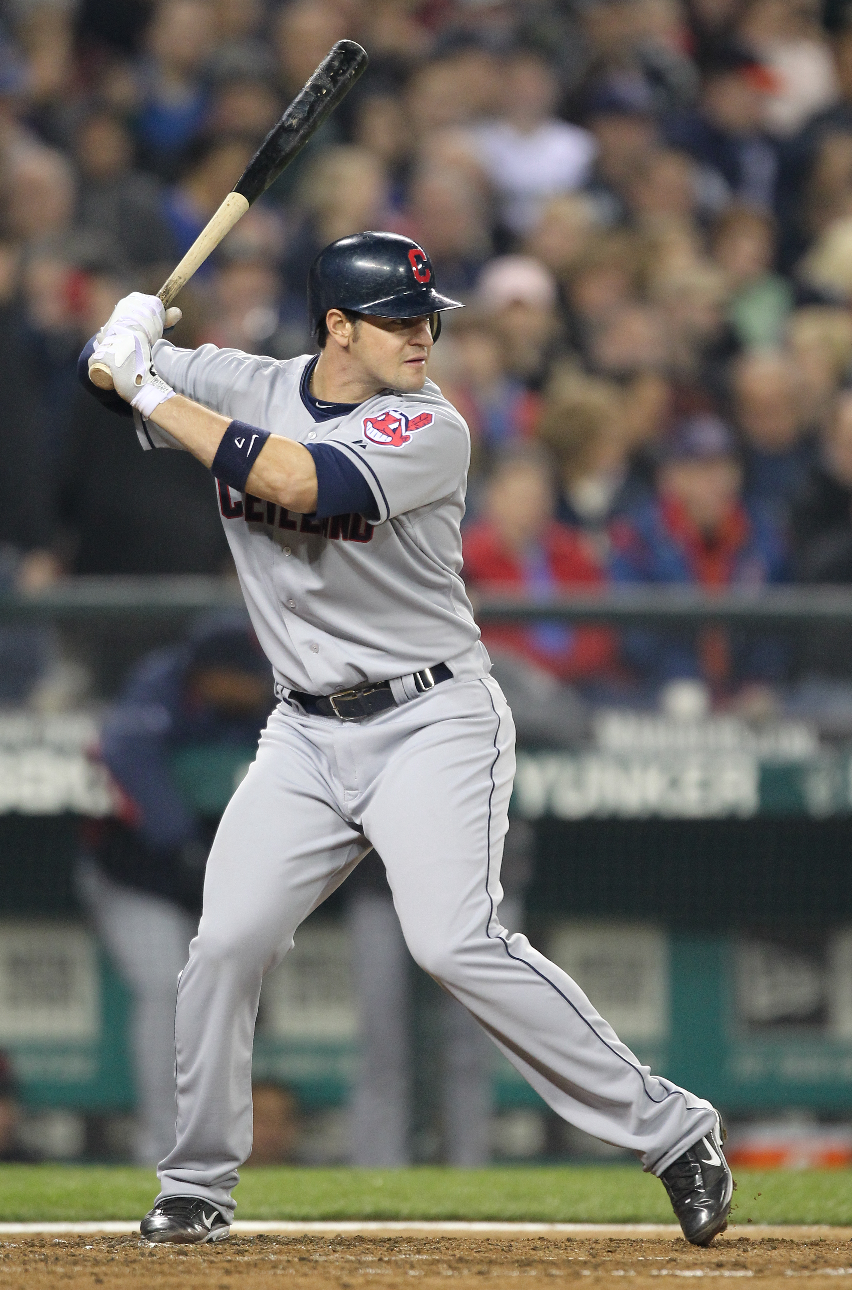 SEATTLE, WA - APRIL 08:  Matt LaPorta #7 of the Cleveland Indians bats against the Seattle Mariners during the Mariners' home opener at Safeco Field on April 8, 2011 in Seattle, Washington. (Photo by Otto Greule Jr/Getty Images)