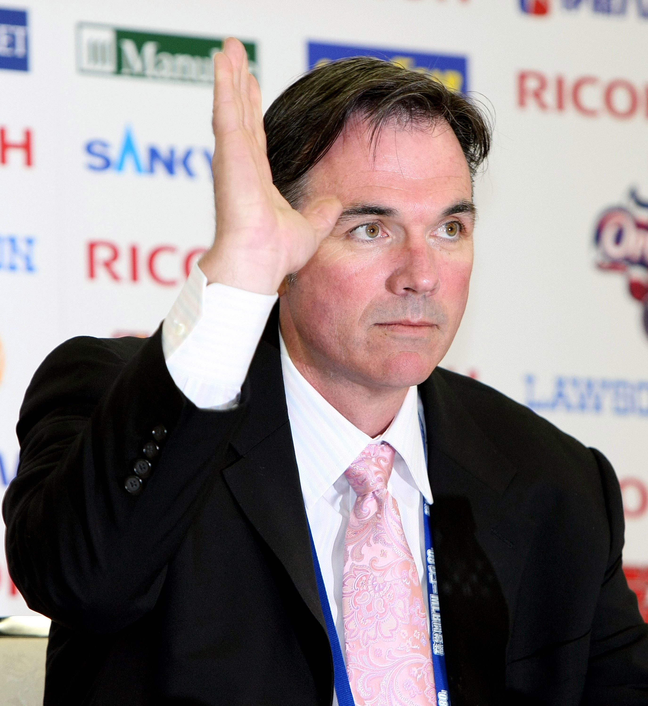 TOKYO - MARCH 21:  GM Billy Beane of Oakland Athletics attends Ricoh MLB Opening Series press conference at Tokyo Dome on March 21, 2008 in Tokyo, Japan. Boston Red Sox and Oakland Athletics plays their opening games in Tokyo on March 25 and 26. (Photo by