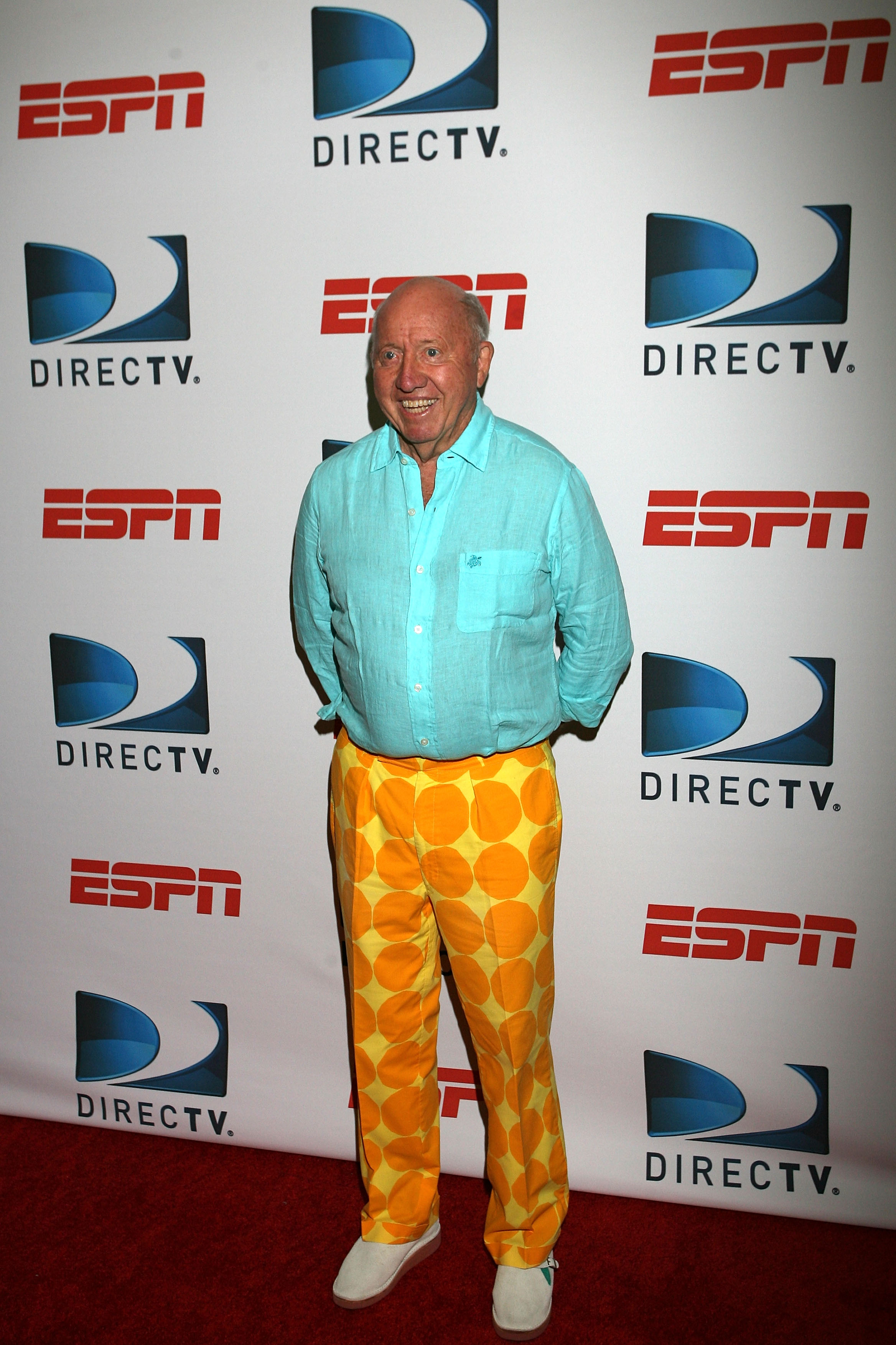 NEW YORK - AUGUST 26: Bud Collins attends the DIRECTV ESPN US Open Experience promoting DIRECTV�s mosaic coverage of the US Open at Bryant Park on August 26, 2009 in New York, New York.  (Photo by Chris Trotman/Getty Images for DirecTV)