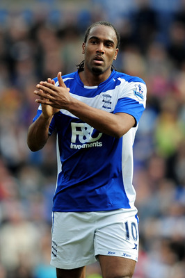BIRMINGHAM, ENGLAND - MARCH 12:  Cameron Jerome of Birmingham City looks on during the FA Cup sponsored by E.On Sixth Round match between Birmingham City and Bolton Wanderers at St Andrews on March 12, 2011 in Birmingham, England.  (Photo by Jamie McDonal