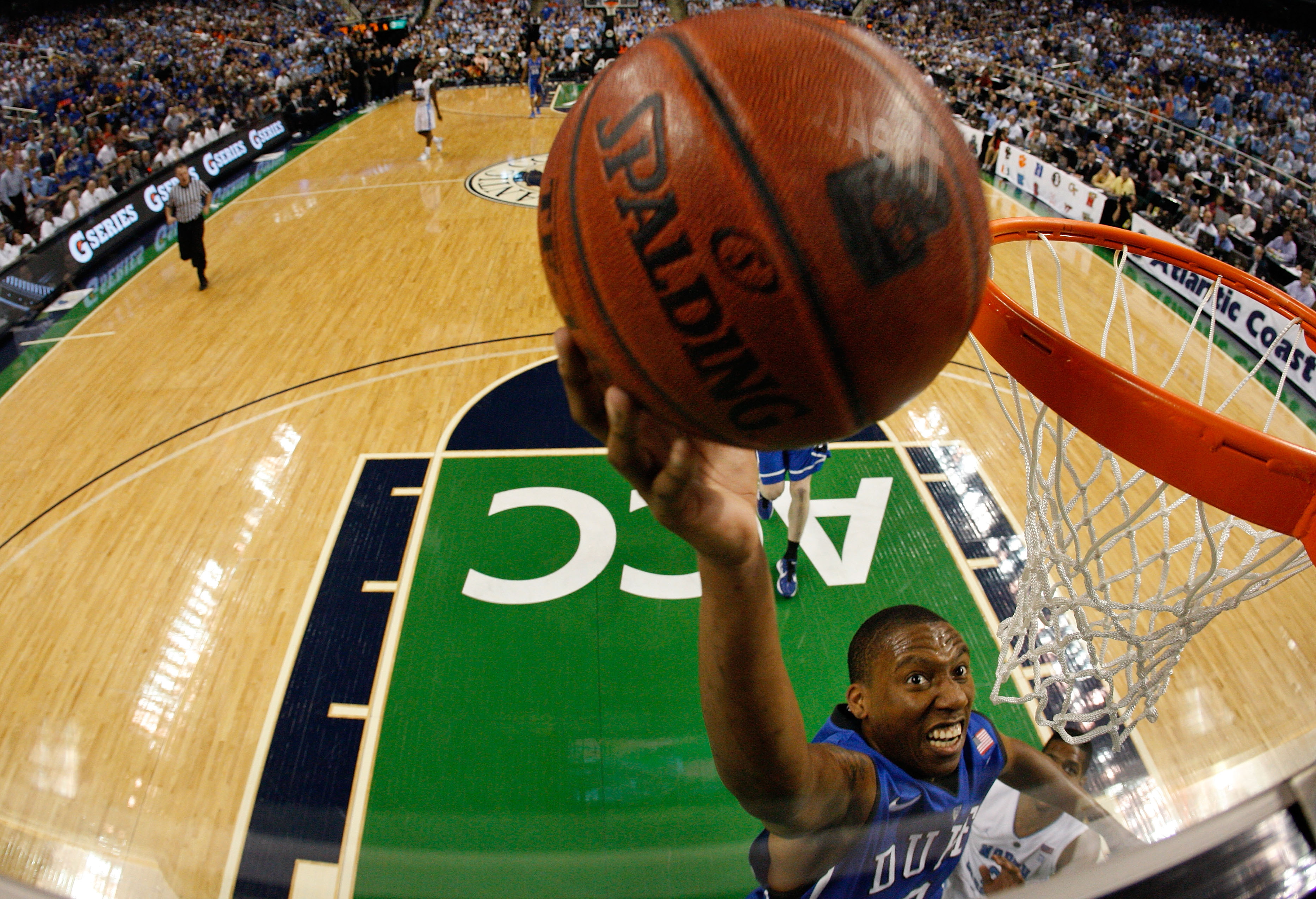 GREENSBORO, NC - MARCH 13: Nolan Smith #2 of the Duke Blue Devils shoots against the North Carolina Tar Heels in the championship game of the 2011 ACC men's basketball tournament at the Greensboro Coliseum on March 13, 2011 in Greensboro, North Carolina.