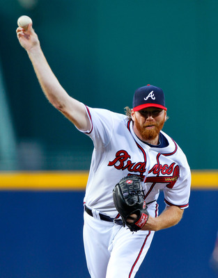 ATLANTA, GA - MAY 27:  Tommy Hanson #48 of the Atlanta Braves pitches to the Cincinnati Reds at Turner Field on May 27, 2011 in Atlanta, Georgia.  (Photo by Kevin C. Cox/Getty Images)
