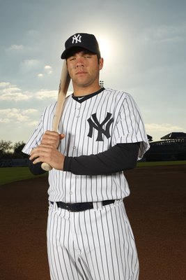 TAMPA, FL - FEBRUARY 25:  Austin Romine #84 of the New York Yankees poses for a photo during Spring Training Media Photo Day at George M. Steinbrenner Field on February 25, 2010 in Tampa, Florida.  (Photo by Nick Laham/Getty Images)