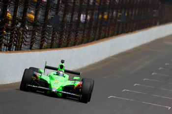 INDIANAPOLIS, IN - MAY 29:  Danica Patrick, driver of the #7 Team GoDaddy Dallara Honda, races during the IZOD IndyCar Series Indianapolis 500 Mile Race at Indianapolis Motor Speedway on May 29, 2011 in Indianapolis, Indiana.  (Photo by Jonathan Ferrey/Ge