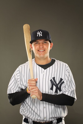 TAMPA, FL - FEBRUARY 23:  Brandon Laird #75 of the New York Yankees poses for a portrait on Photo Day at George M. Steinbrenner Field on February 23, 2011 in Tampa, Florida.  (Photo by Al Bello/Getty Images)
