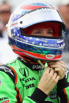 INDIANAPOLIS, IN - MAY 22:  Danica Patrick, driver of the #7 Team GoDaddy Dallara Honda, suits up as she prepares to qualify for the Indianapolis 500 on May 22, 2011 at Indianapolis Motor Speedway in Indianapolis, Indiana.  (Photo by Jamie Squire/Getty Im