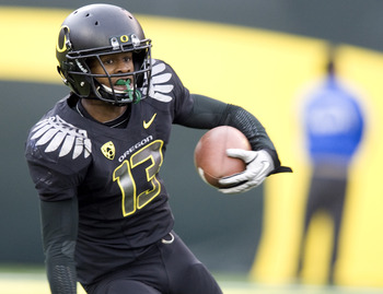 Cliff Harris doing his thing for the Ducks in 2010.