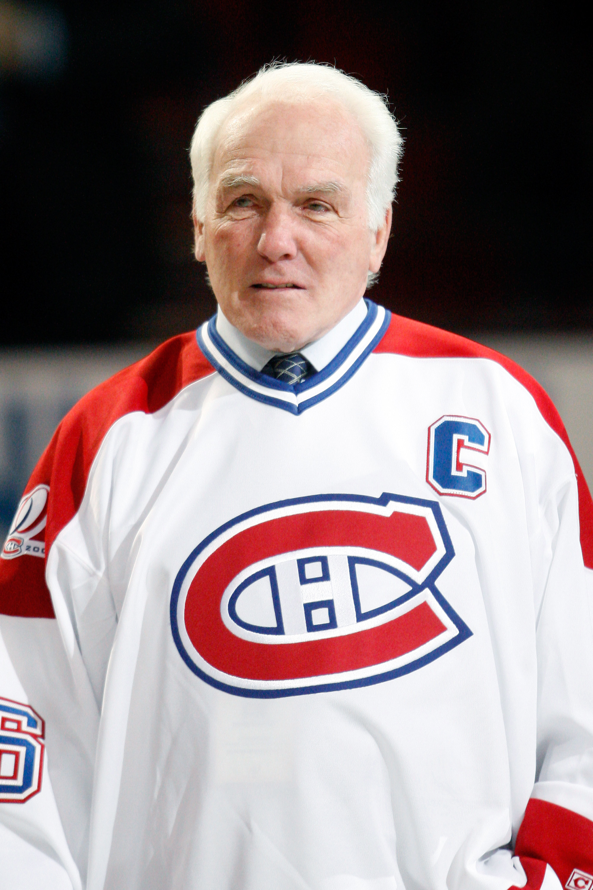 MONTREAL- DECEMBER 4:  Former Montreal Canadiens Henri Richard attends the Centennial Celebration ceremonies prior to the NHL game between the Montreal Canadiens and Boston Bruins on December 4, 2009 at the Bell Centre in Montreal, Quebec, Canada.  The Ca