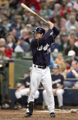 MILWAUKEE - MAY 20: Craig Counsell #30 of the Milwaukee Brewers stands ready at bat against the Minnesota Twins on May 20, 2007 at Miller Park in Milwaukee, Wisconsin. The Brewers defeated the Twins 6-5. (Photo by Jonathan Daniel/Getty Images)