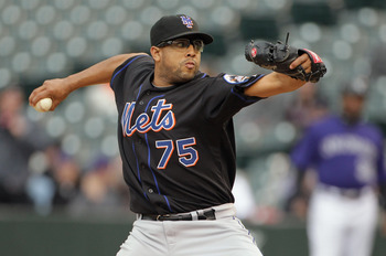 DENVER, CO - MAY 12:  Pitcher Francisco Rodriguez #75 of the New York Mets delivers against the Colorado Rockies at Coors Field on May 12, 2011 in Denver, Colorado.  (Photo by Doug Pensinger/Getty Images)