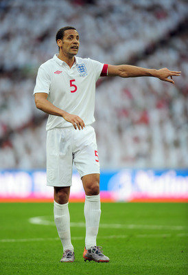 LONDON, ENGLAND - MAY 24: Rio Ferdinand of England in action during the International Friendly match between England and Mexico at Wembley Stadium on May 24, 2010 in London, England.  (Photo by Shaun Botterill/Getty Images)