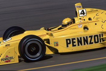 18 Mar 2001:  Sam Hornish Jr. speeds down the track during the Pennzoil Copper World Indy 200 at the Phoenix International Raceway in Phoenix, Arizona.Mandatory Credit: Robert Laberge  /Allsport
