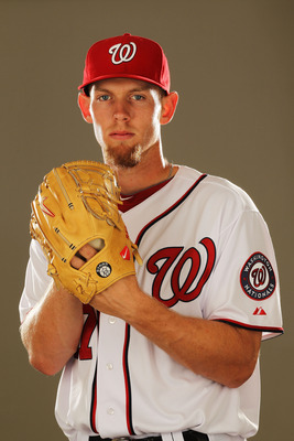 VIERA, FL - FEBRUARY 25:  Stephen Strasburg #37 of the Washington Nationals poses for a portrait during Spring Training Photo Day at Space Coast Stadium on February 25, 2011 in Viera, Florida.  (Photo by Al Bello/Getty Images)