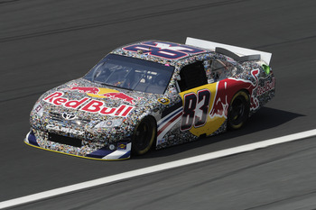 CHARLOTTE, NC - MAY 26:  Brian Vickers drives the #83 Red Bull Toyota during practice for the NASCAR Sprint Cup Series Coca-Cola 600 at Charlotte Motor Speedway on May 26, 2011 in Charlotte, North Carolina.  (Photo by John Harrelson/Getty Images for NASCA